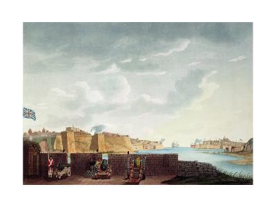 View of La Valletta During the Siege of 1800, Engraved by Francis Chesham, 1803-Captain James Weir-Giclee Print