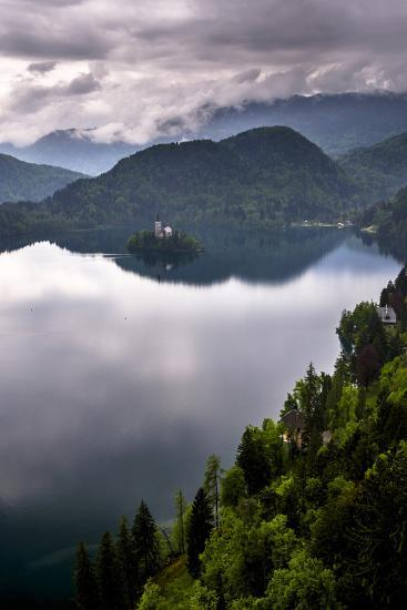 View of Lake Bled from Lake Bled Castle-Matthew Williams-Ellis-Photographic Print