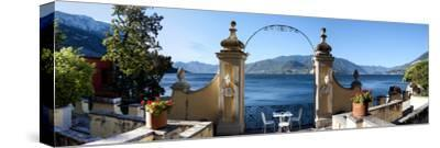 View of Lake Como from a Patio, Varenna, Lombardy, Italy