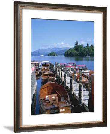 View of Lake from Boat Stages, Bowness on Windermere, Cumbria, England, United Kingdom, Europe-Hunter David-Framed Photographic Print