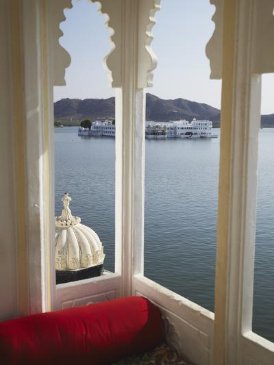 View of Lake Palace Hotel From Jagat Niiwas Palace Hotel, Udaipur, Rajasthan, India, Asia-Ian Trower-Photographic Print