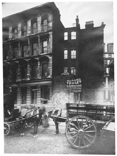 View of Land to Let in Arthur Street East with Two Horse-Drawn Carts in Front, City of London, 1887-Henry Dixon-Giclee Print