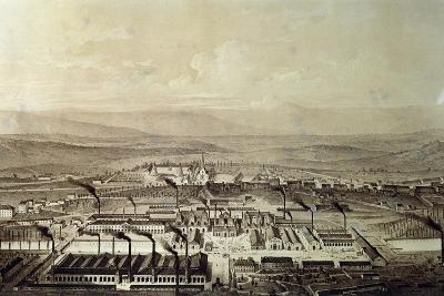 View of Le Creusot in Burgundy 1847, France,19th Century--Giclee Print