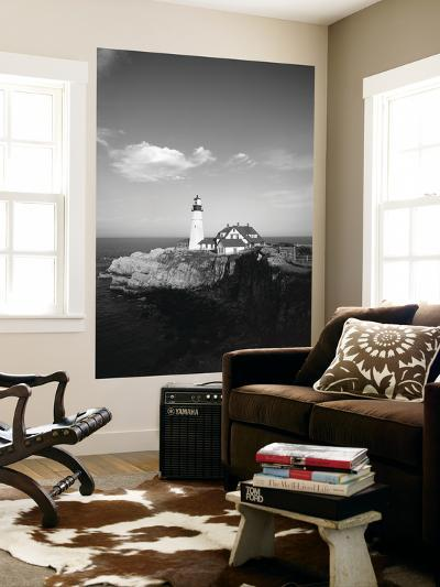 View of Lighthouse, Cape Elizabeth, Portland, Maine, USA-Walter Bibikow-Giant Art Print