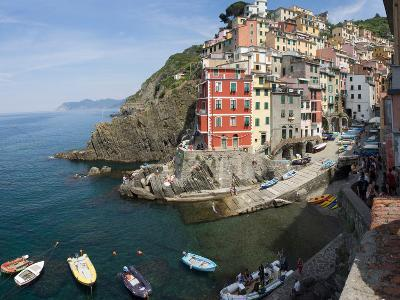 View of little harbor of Riomaggiore, La Spezia, Liguria, Italy--Photographic Print
