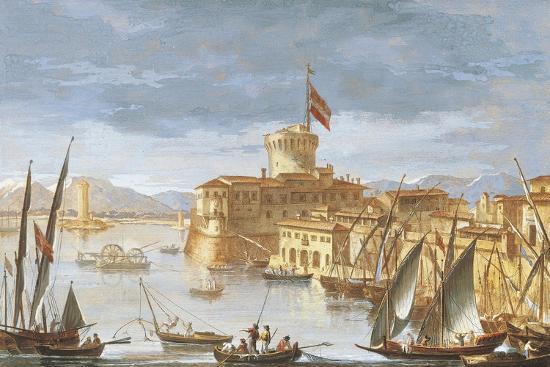 View of Livorno Port-Giuseppe Maria Terreni-Giclee Print