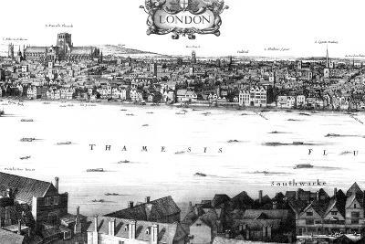 View of London and the Thames from South Bank, 17th Century-William Griggs-Giclee Print