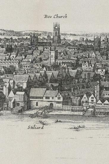 View of London by Wenceslaus Hollar, 1647--Giclee Print