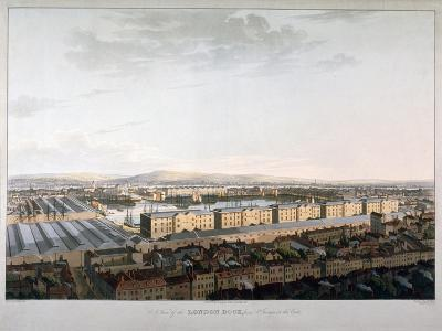 View of London Docks, 1816-Daniel Havell-Giclee Print