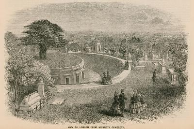 View of London from Highgate Cemetery--Giclee Print