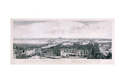 View of London from Islington, 1789-Johannes Swertner-Giclee Print