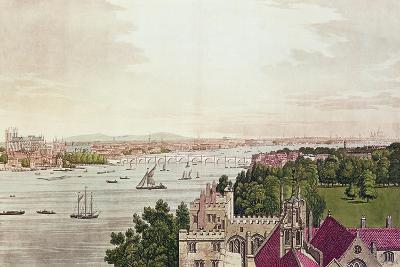 View of London from Lambeth, Engraved by J.C Stadler (Fl.1780-1812) 1795-Joseph Farington-Giclee Print