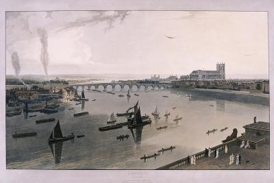 View of London from Somerset House, 1805-William Daniell-Giclee Print