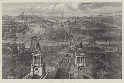 View of London from St Paul's, on Lord Mayor's Day--Giclee Print