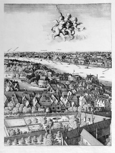 View of London, Published 1647 (Detail)-Wenceslaus Hollar-Giclee Print