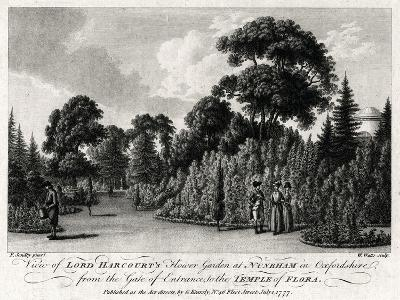 View of Lord Harcourt's Flower Garden at Nuneham in Oxfordshire, 1777-William Watts-Giclee Print