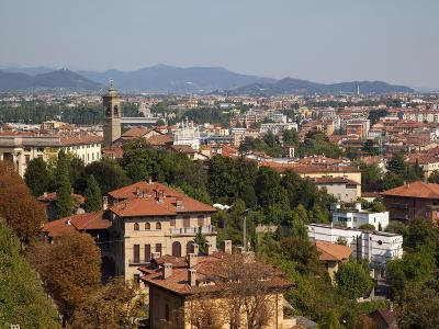 View of Lower Town from Upper Town, Bergamo, Lombardy, Italy, Europe-Frank Fell-Photographic Print