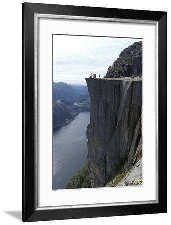 View of Lysefjord and Preikestolen (Pulpit Rock) Near Stavanger, Norway-Natalie Tepper-Framed Photo