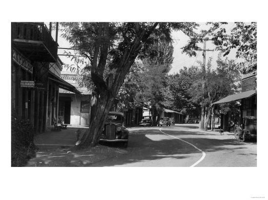 View of Main Street - Columbia, CA-Lantern Press-Art Print