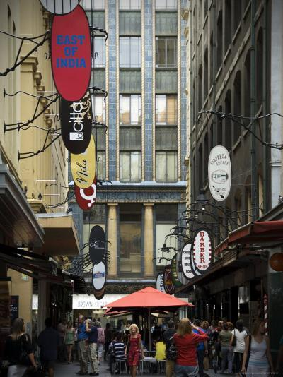 View of Majorca Building and Degraves Street-Glenn Beanland-Photographic Print