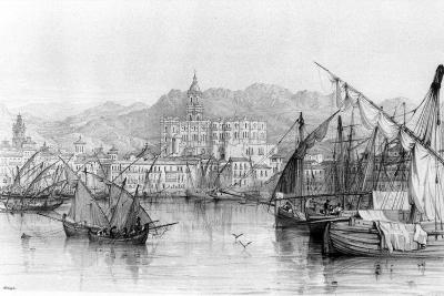 View of Malaga, from 'spanish Scenery' by George Vivian, Published 1838--Photographic Print