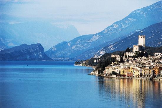 View of Malcesine, Lake Garda, Veneto, Italy--Photographic Print