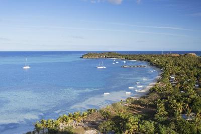 View of Mana Island, Mamanuca Islands, Fiji, South Pacific, Pacific-Ian Trower-Photographic Print