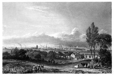 View of Manchester, 1844-Thomas Higham-Giclee Print