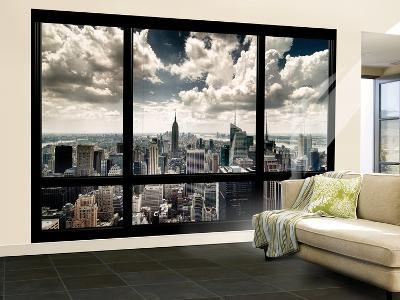 View of Manhattan, New York from Window-Steve Kelley-Wall Mural – Large