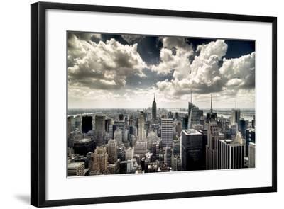 View of Manhattan, New York-Steve Kelley-Framed Photographic Print