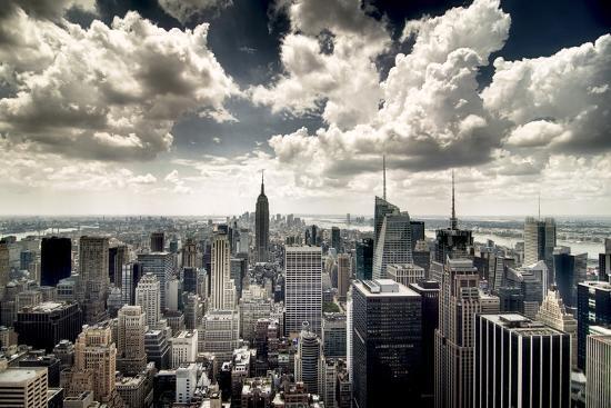 View of Manhattan, New York-Steve Kelley-Photographic Print