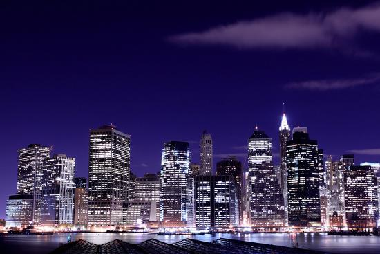 View Of Manhattan Skyline From Brooklyn At Night New York City Photographic Print Zigi Art Com