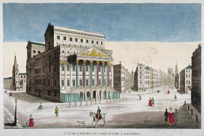 View of Mansion House, Cornhill and Lombard Street, City of London, 1790--Giclee Print