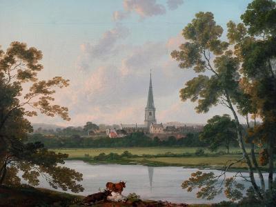 View of Masham and the River Ure at Masham, 1816-Julius Caesar Ibbetson-Giclee Print