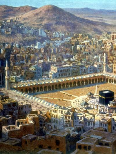 View of Mecca, from La Vie De Mohammed, Prophete D'Allah, C1880-C1920-Etienne Dinet-Giclee Print
