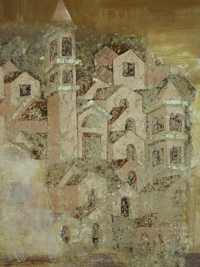 View of Medieval City of Ambulatory of Cosmatesque Cloister in Monastery of St Scholastica--Giclee Print