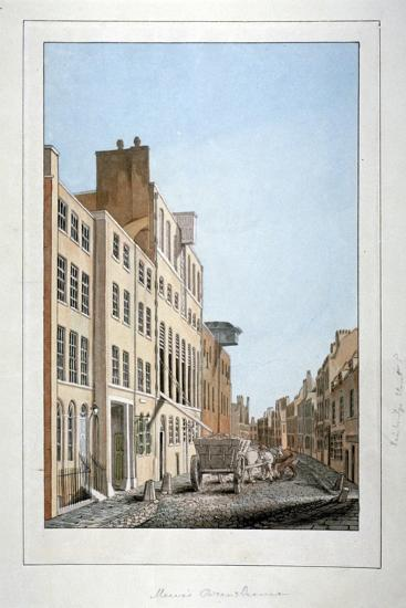 View of Meux's Brewery and a Horse and Cart in Clerkenwell Road, Finsbury, London, C1805--Giclee Print
