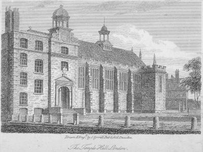 View of Middle Temple Hall from the North-East, Middle Temple, City of London, 1812-S Tyrrell-Giclee Print