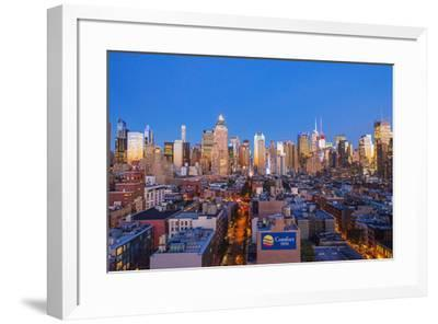 View of Midtown Manhattan from the press lounge rooftop bar, New York, USA-Jordan Banks-Framed Photographic Print