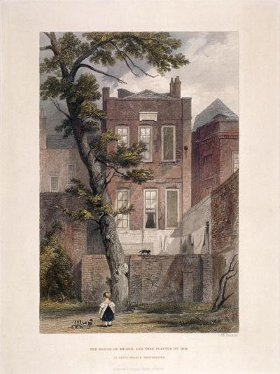 View of Milton's Residence, Petty France, Westminster, London, 1851-John Wykeham Archer-Giclee Print