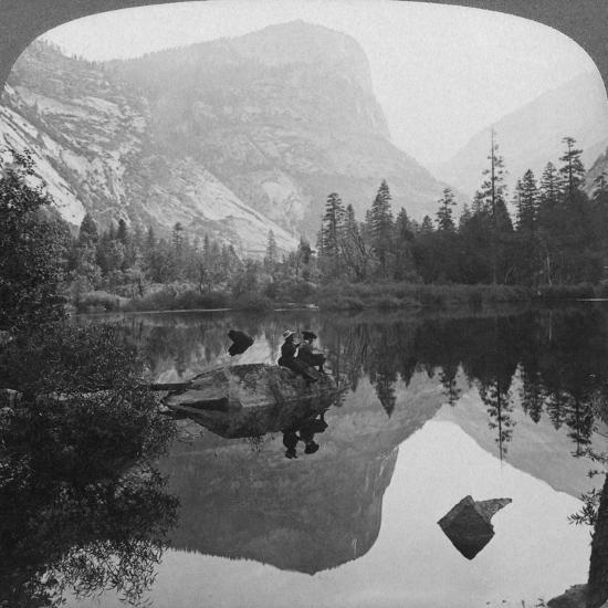 View of Mirror Lake, Looking Towards Mount Watkins, Yosemite, California, USA, 1902-Underwood & Underwood-Giclee Print