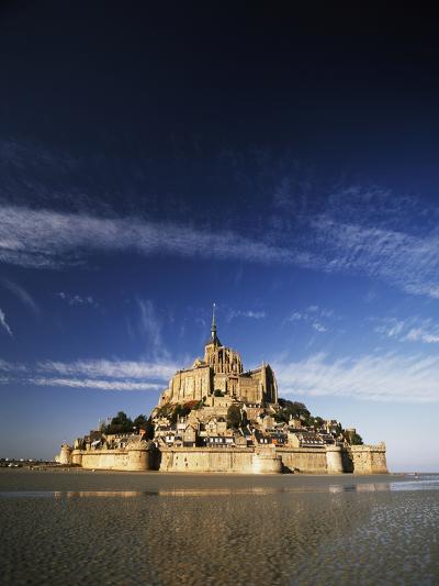 View of Mont Saint-Michel, Normandy, France-David Barnes-Photographic Print