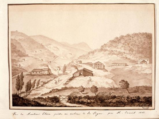 View of Montioni, Taken from the Middle of the Vine, 1812-Salomon Guillaume Counis-Giclee Print