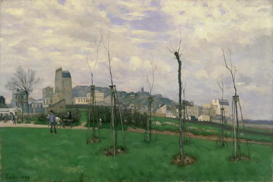 View of Montmartre from the Cité Des Fleurs, 1869-Alfred Sisley-Giclee Print