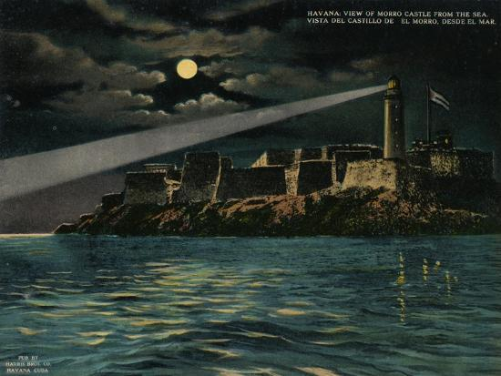 View of Morro Castle from the sea, Havana, Cuba, c1920-Unknown-Giclee Print
