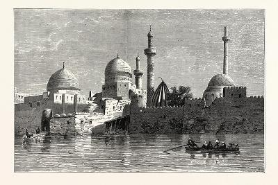View of Mosul (From the Tigris). Baghdad, the Capital of Iraq, Stands on the Banks of the Tigris--Giclee Print