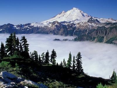 View of Mount Baker from Artist's Point, Snoqualmie National Forest, Washington, USA-William Sutton-Photographic Print