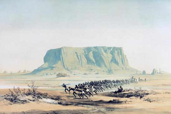 View of Mount Barkal, Sudan, 1842-1845-E Weidenbach-Giclee Print