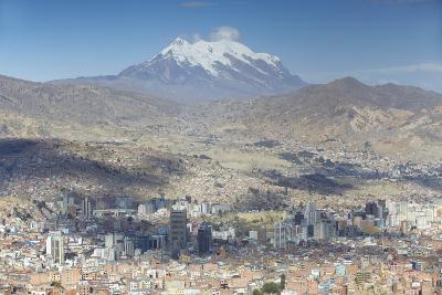 View of Mount Illamani and La Paz, Bolivia, South America-Ian Trower-Photographic Print
