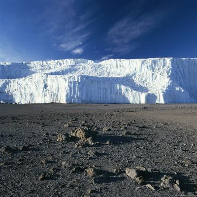 View of Mount Kilimanjaro's Summit Crater Ice Field-David Pluth-Photographic Print